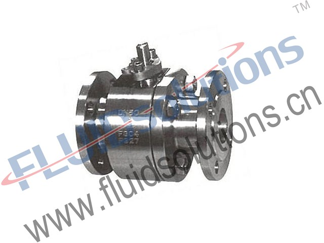 Forged-Steel-2PCS-Flanged-Ball-Valves