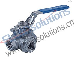 3-Way Threaded Ball Valve