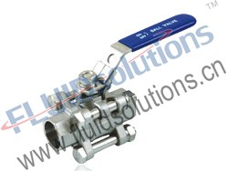 3PC Socket Welding Ball Valve 1000WOG